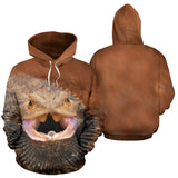 Bearded Dragon Hoodie with Plain Backside