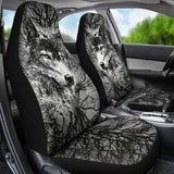 Wolf Behind the Trees Car Seat Cover