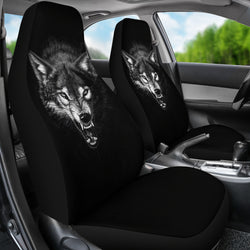 Ferocious Wolf Car Seat Cover