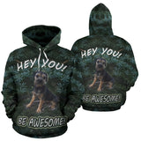 Women's Silli Hey You!  Be Awesome Border Terrier Dog Hoodie