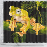 Green Tree Frog Shower Curtain