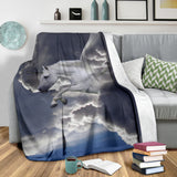 Unicorn Pegasus Throw Blanket Gray Blue Small Medium Large