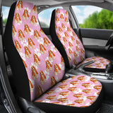 Pink Basset Hound Lover Car Seat Covers