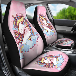 Pink Unicorn Car Seat Covers