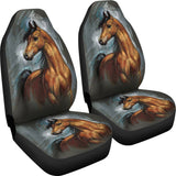 Arabian Spirit Horse Car Seat Covers - Brown and Grey - Fits most Bucket Style Seats