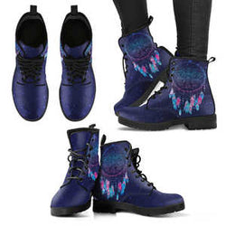 Purple Dream Catcher Handcrafted Boots