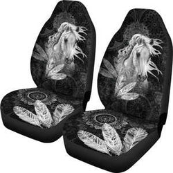 Free Spirit White Horse Car Seat Covers