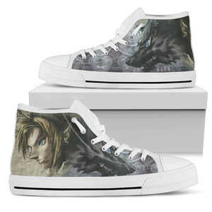 Wolf Link Women's High Top _ White