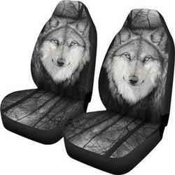 Silver Wolf Car Seat Covers