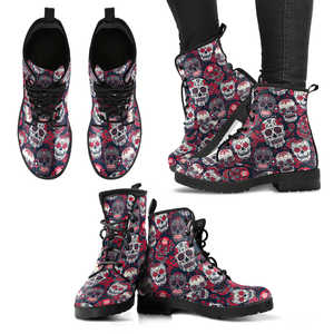 Skull Lovers Women's Handcrafted Premium Boots V3