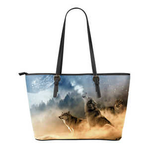 Leather Wolf Tote