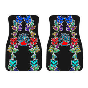 4 Generations Floral with Bearpaw Set of 2 Car Mats
