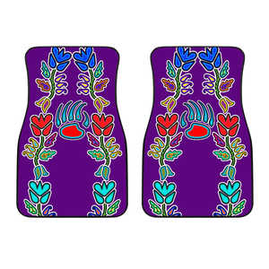 Bearpaw Floral Purple Car Mats