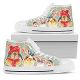 Women's Watercolor Rabbit High Top Sneakers
