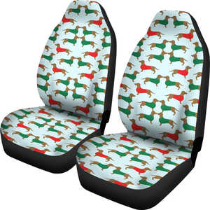 Holiday Dachshund Car Seat Covers