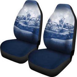 Wolf Family Car Seat Covers