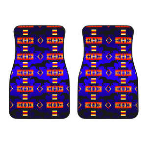 Seven Tribes Blue Horse Set of 2 Car Mats