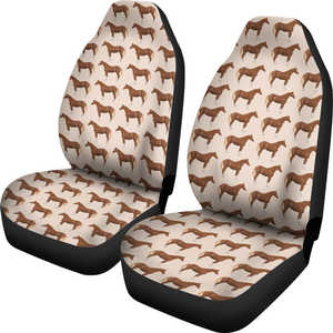 Brown Horse Car Seat Covers