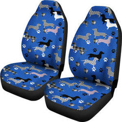 Blue Dachshund Car Seat Cover