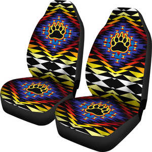 Sunset Bearpaw Set of 2 Car Seat Covers