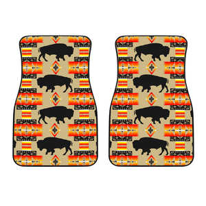 Seven Tribes Tan Buffalo Set of 2 Car Mats