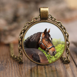 Who Me?  Horse Pendant Necklace