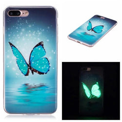 Blue Butterfly iPhone Case Glows in the Dark