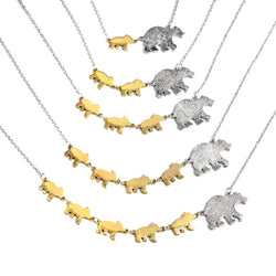 Adorable Mama Bear Necklace - Choose Your Cubs