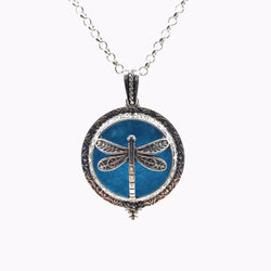 Dragonfly Essential Oil Diffuser Pendant Necklace