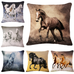 3D Horse Animals Pattern Decorative Throw Pillows Cushion Cover
