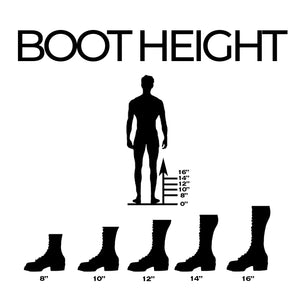 "8"" 10"" 12"" 14"" 16"" 18"" 20"" boot height"