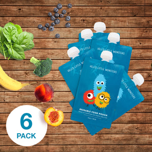 FREE Reusable Food Pouches (6 Pack)