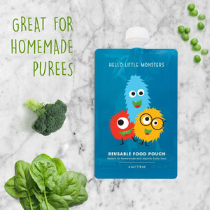 Reusable Squeeze Baby Food Pouch (6 Pack)