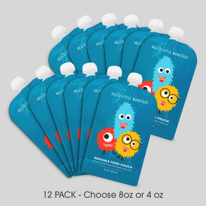 12 PACK - Reusable Squeeze Baby Food Pouches