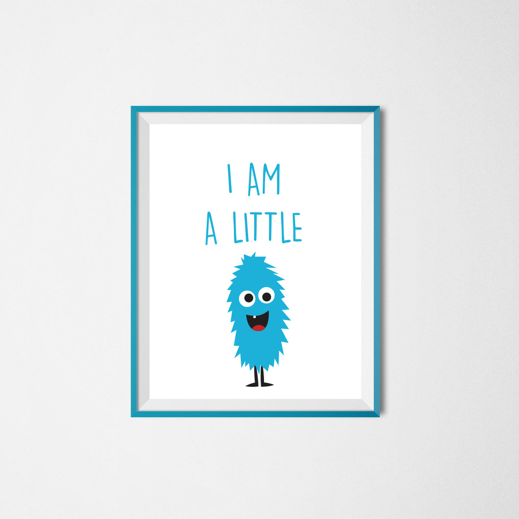 I am a little Monster Printable Poster - 3 pcs