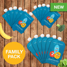 FAMILY PACK - Reusable Food Pouches (18 Pack)