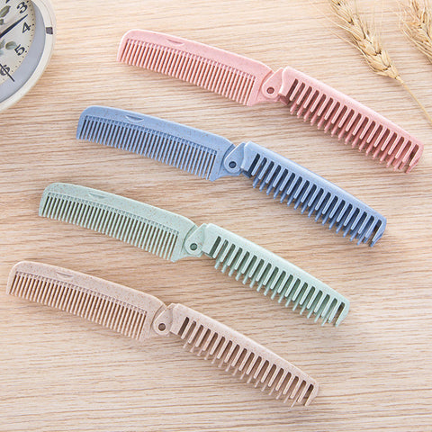 100% Biodegradable Folding Hair Comb – Wheat Straw