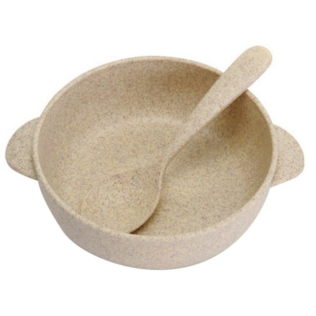 100% Biodegradable Baby Bowl and Spoon Set