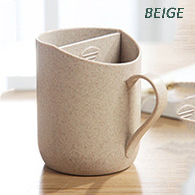 100% Biodegradable Tea Mug with Built-in Infuser