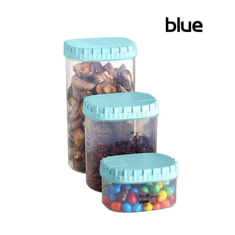 100% Biodegradable Food Container – Storage Box with Lid, Set of 3