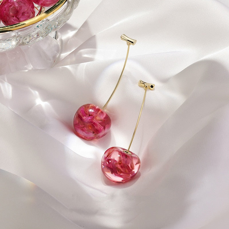 Sakura Flower - Cherry Drop Earrings
