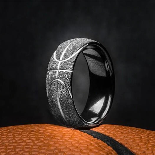 Basketball Pattern Ring
