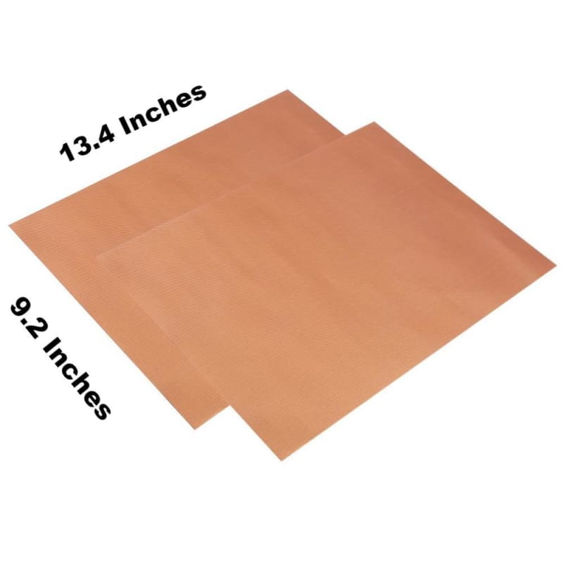 2Pcs Reusable Copper Grill & Bake Mat - Home