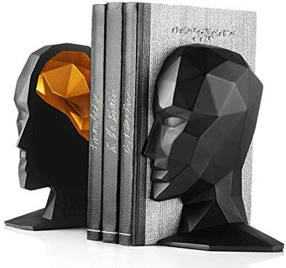 Elegant Abstract Open Face Bookends Statue