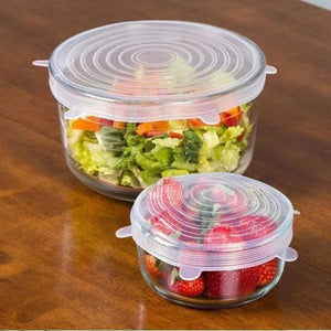 6 Pcs Universal Stretch Lids - Cookware Lids