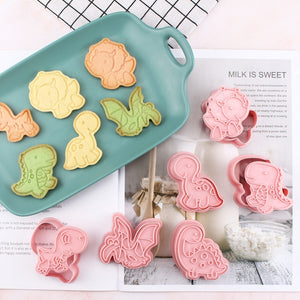 6PCs Dinosaur Shaped Cookie Cutters