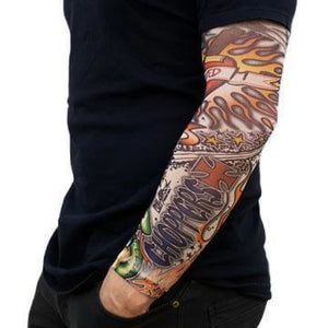 6X Fake Temporary Tattoo Sleeve