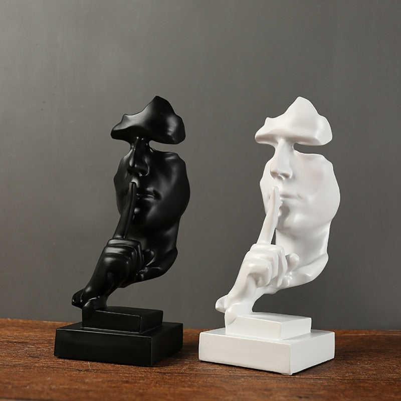 The Silent Face Statue - Handcrafted Abstract Sculpture Interior
