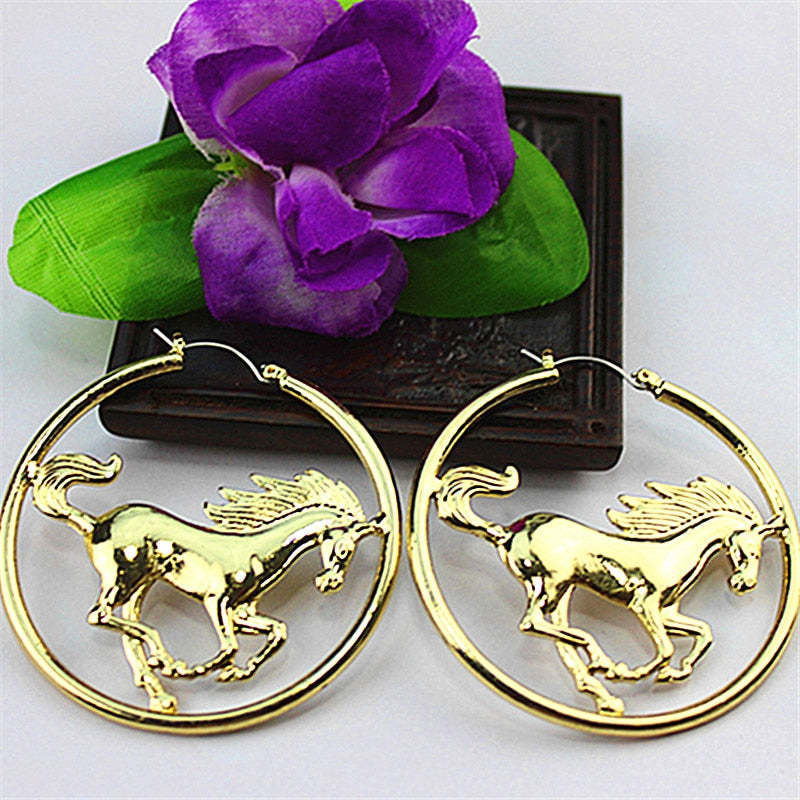 JumboChain™ - Galloping Horses Earrings