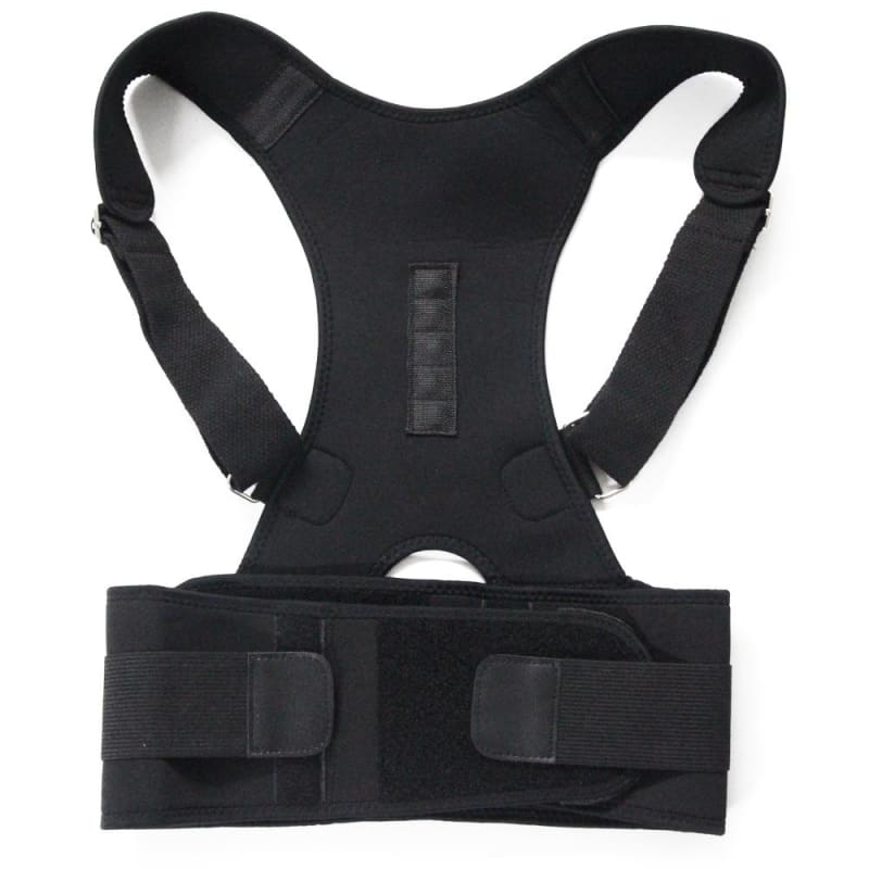 Adjustable Magnetic Posture Corrector Brace - Black / Xl - Braces & Supports